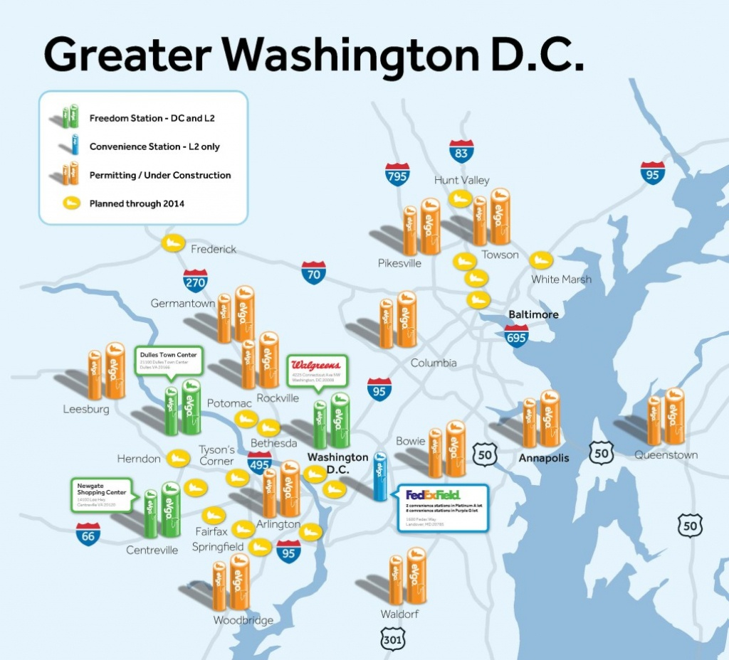 First Evgo Fast-Charging Station Opens In Dc – Be Car Chic - Charging Stations In Texas Map