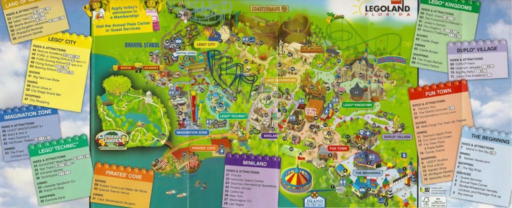 First Look At Legoland Florida's Park Map | Hospitality And Travel News - Legoland Florida Park Map