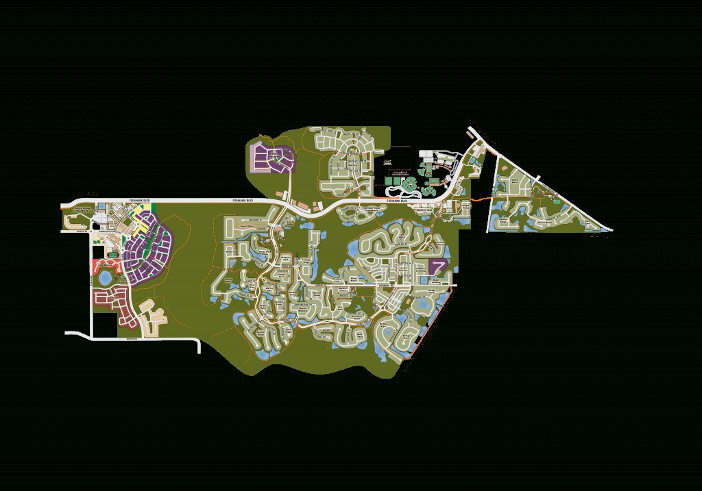 Fishhawk Ranch Community Map | Near Brandon In Tampa Bay Fl - Lithia Florida Map