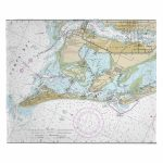 Fl: Anna Maria Island, Fl Nautical Chart Blanket   Nautical Maps Florida