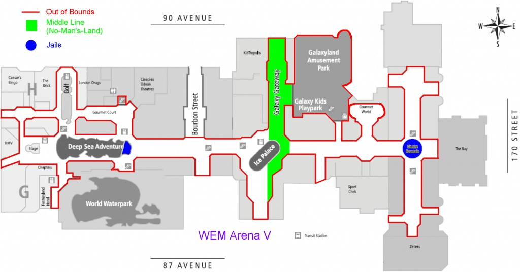 Flags, A Capture The Flag Style Sport. - West Edmonton Mall Map Printable