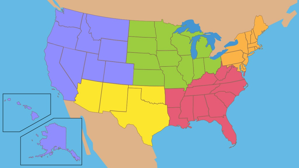 Flocabulary - Educational Hip-Hop - Us Regions Map Printable