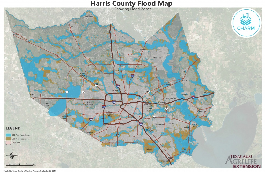 Flood Zone Maps For Coastal Counties   Texas Community Watershed - Houston Texas Flood Map