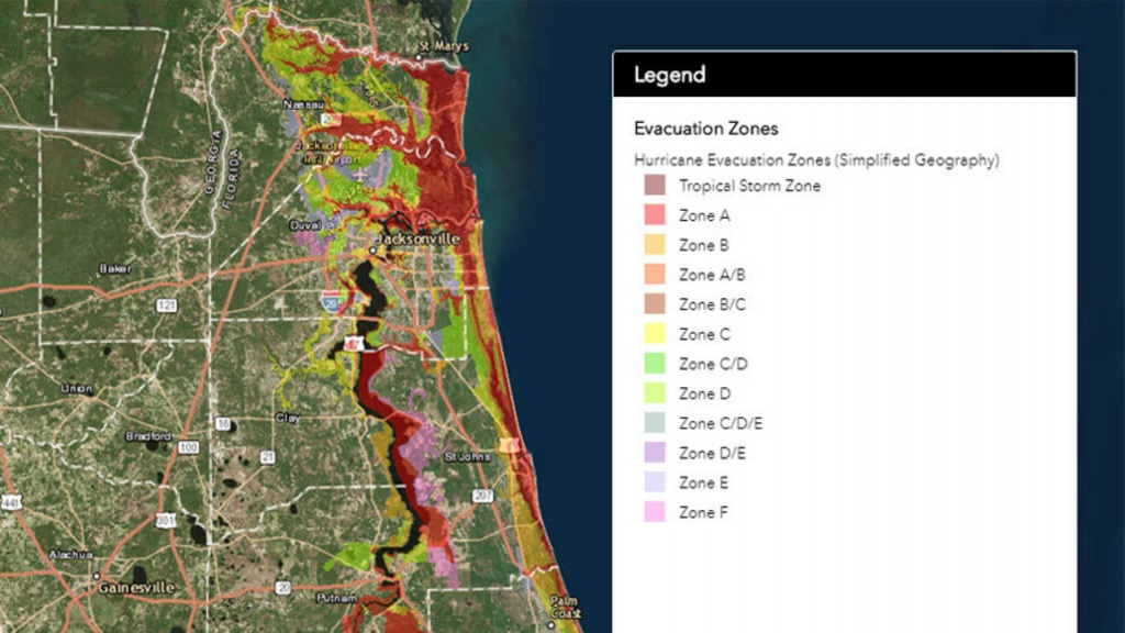 Flood Zones/evacuation Routes For Florida Counties - Flood Maps Gainesville Florida