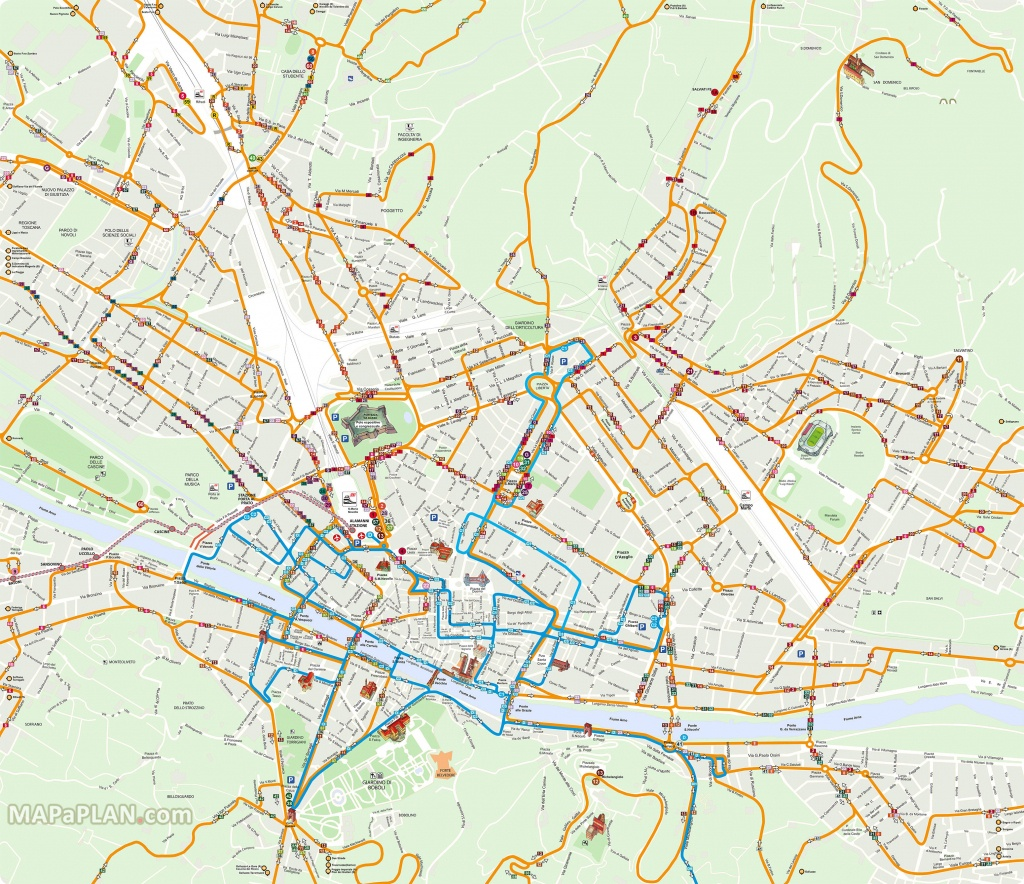 Florence Attractions Map Pdf - Free Printable Tourist Map Florence - Printable Walking Map Of Florence