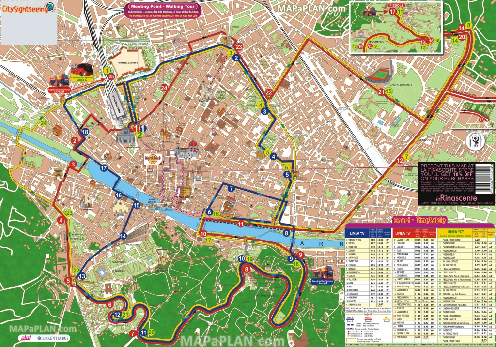 Florence Maps - Top Tourist Attractions - Free, Printable City - Tourist Map Of Florence Italy Printable