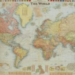 Florentine Print World Map Gw Bacon - Printable Map Paper