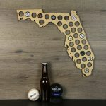 Florida Beer Cap Map Beer Cap Holder Beer Cap State Map Cap | Etsy   Florida Beer Cap Map