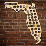 Florida Beer Cap Map   Florida Beer Cap Map