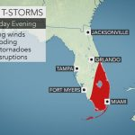 Florida, Carolinas Coast To Face Heightened Risk Of Severe Weather - Florida Weather Map Today