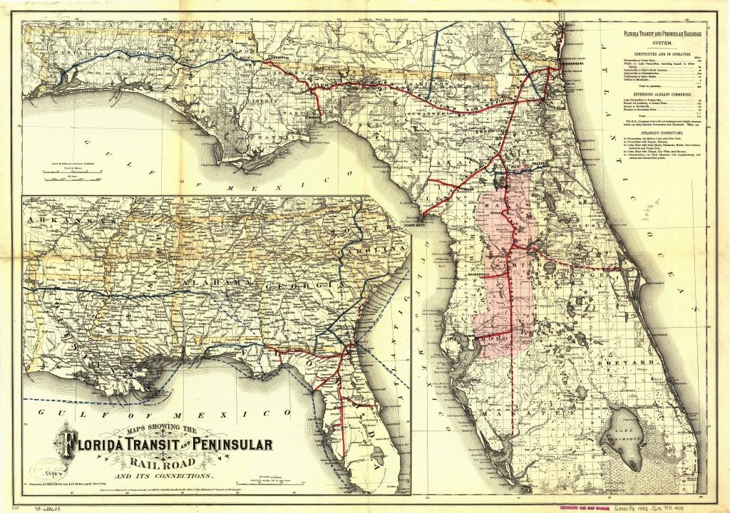 Florida Central And Peninsular Railroad - Wikipedia - Florida Map 1900