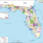 Florida County Map, Florida Counties, Counties In Florida - Map Of Panama City Florida And Surrounding Towns