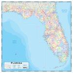 Florida County Wall Map   Maps   Map Of Florida