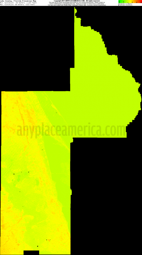 Florida Elevation Map Free – Bestinthesw - Florida Topographic Map Free