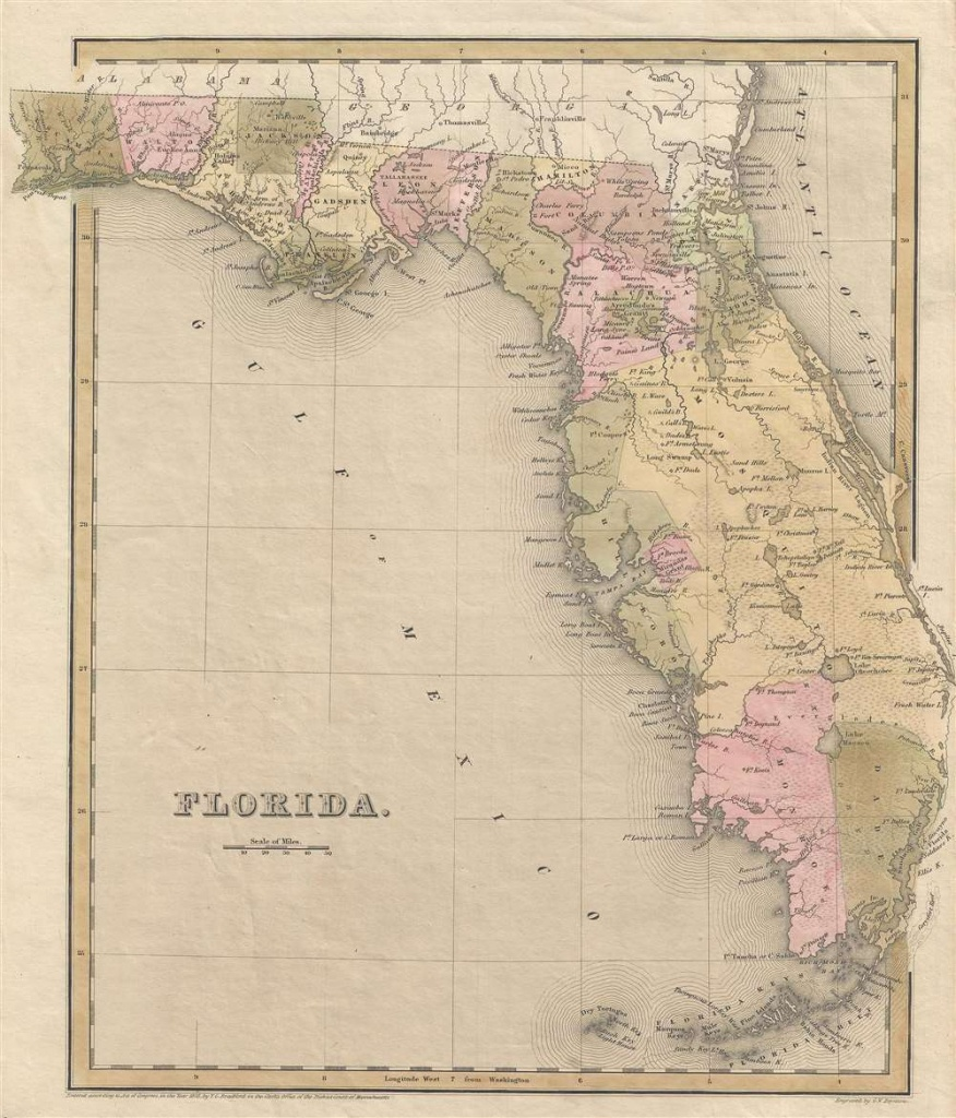 Florida.: Geographicus Rare Antique Maps - Florida Maps For Sale