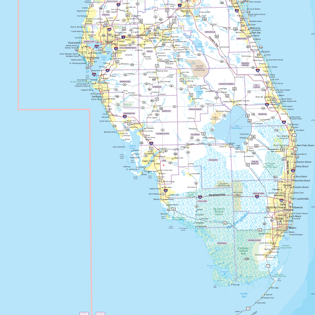 Florida Highway Map - Maps - Florida Wall Map