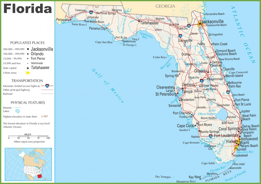 Florida Highway Map - Where Is Apalachicola Florida On The Map
