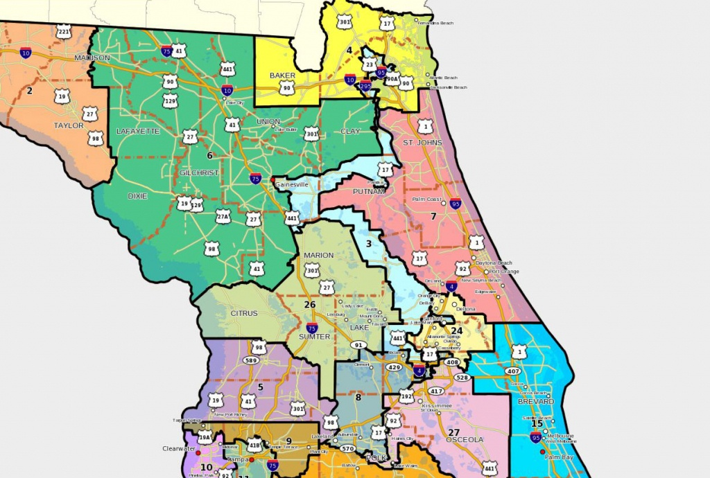Florida House Releases Redistricting Lines Tuesday, Mapping Out - Florida 6Th Congressional District Map