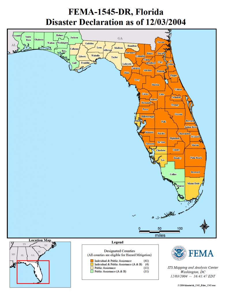 Florida Hurricane Frances (Dr-1545) | Fema.gov - Fema Flood Maps Charlotte County Florida