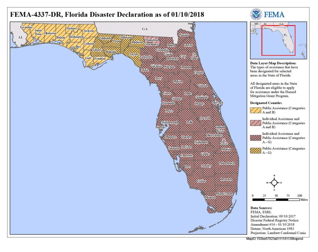 Florida Hurricane Irma (Dr-4337) | Fema.gov - Fema Maps Florida