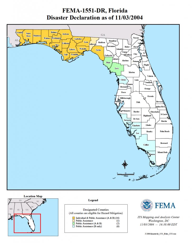 Florida Hurricane Ivan (Dr-1551) | Fema.gov - Florida Disaster Map