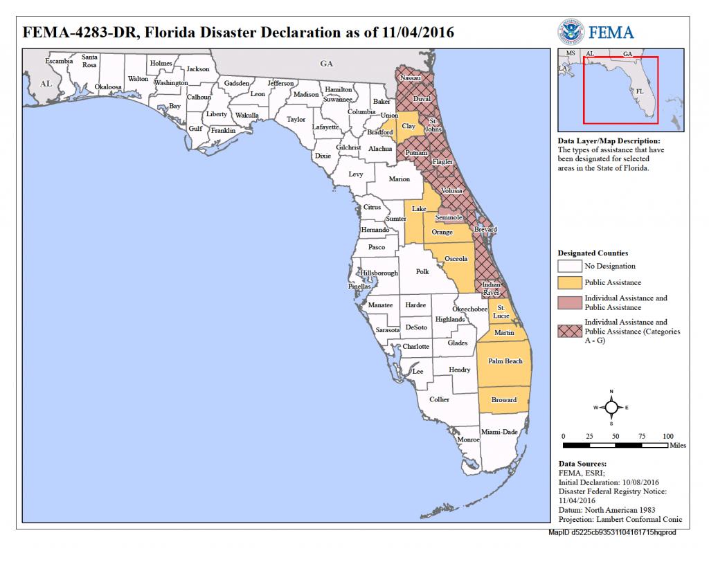 Florida Hurricane Matthew (Dr-4283) | Fema.gov - Fema Maps Florida