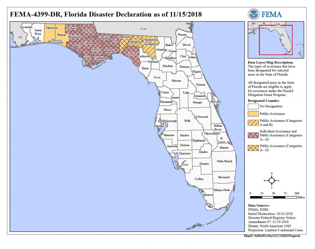 Florida Hurricane Michael (Dr-4399) | Fema.gov - Florida Hurricane Damage Map