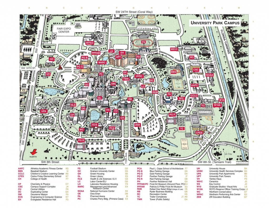 Florida International University Campus Map - Florida International - Florida State University Map