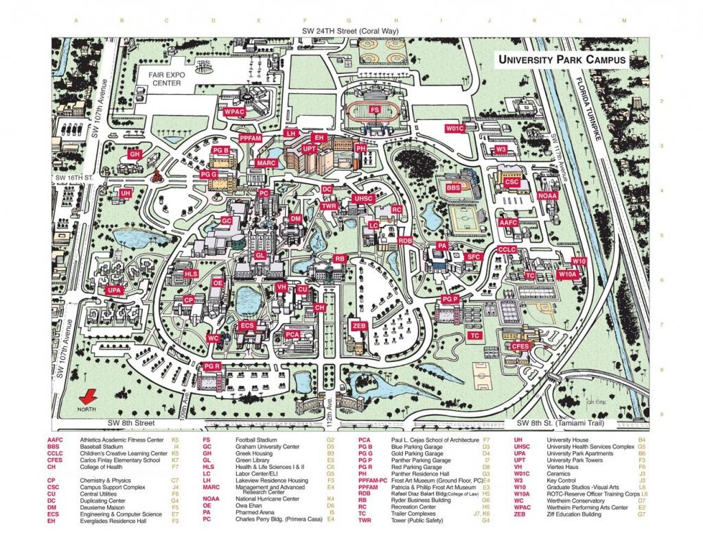 Florida International University Campus Map - Florida International - Uf Campus Map Printable