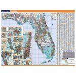 Florida Laminated State Wall Map   Laminated Florida Map