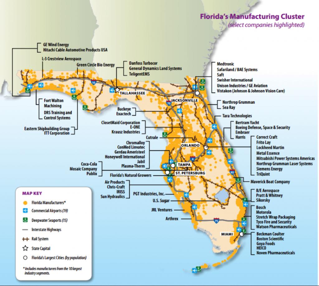 Florida Manufacts   Floridamakes - Florida Power Companies Map