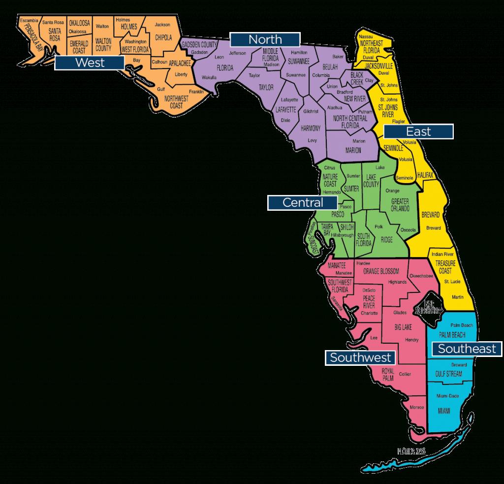 Florida Map - Florida Baptist Convention | Fbc - Map Of Lake City Florida And Surrounding Area