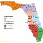 Florida Map With Counties - Lgq - Florida County Map Printable