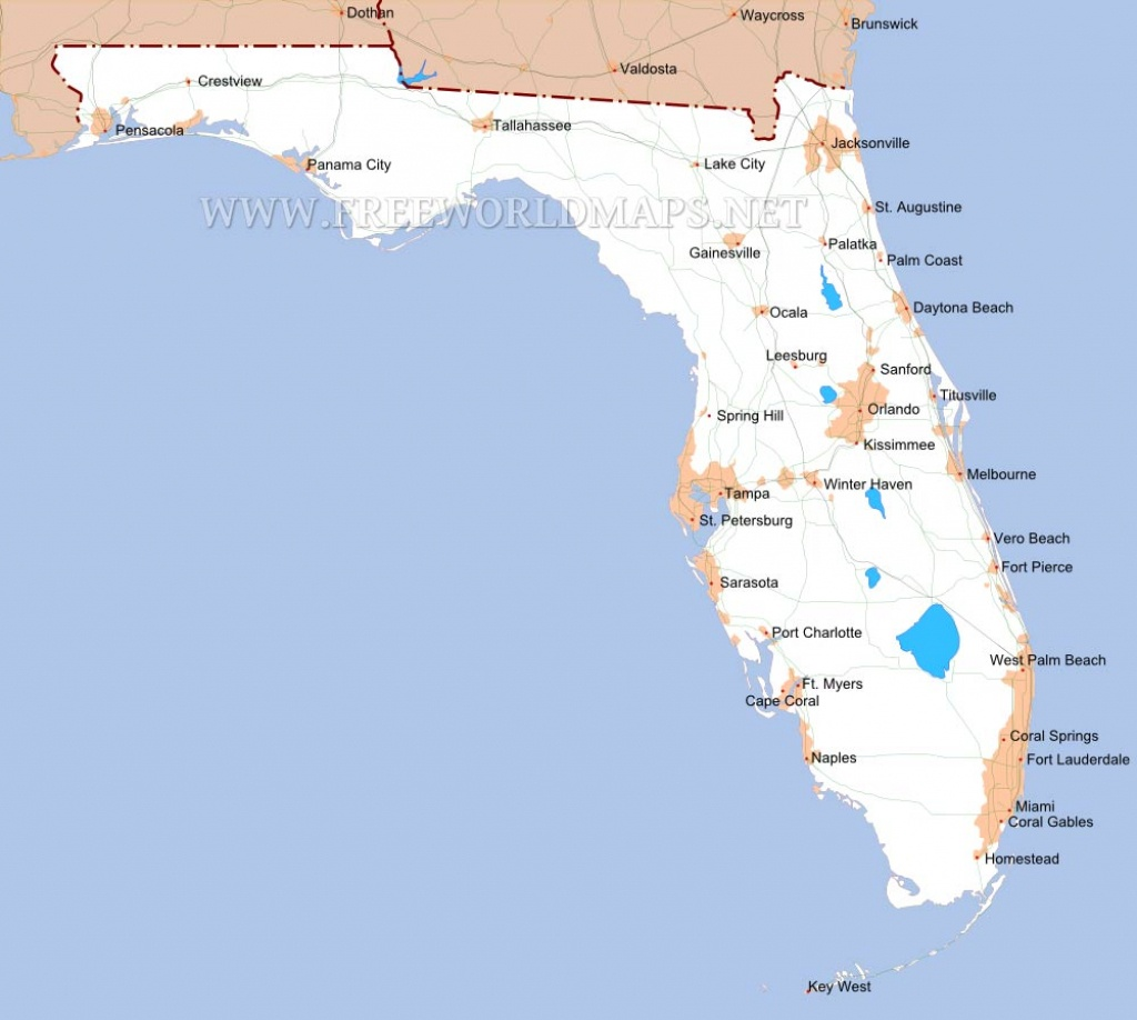 Florida Maps - Coral Beach Florida Map