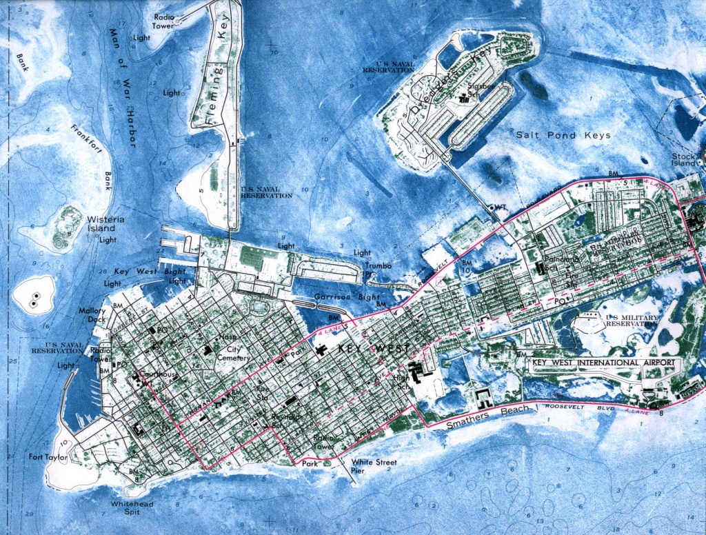 Florida Maps - Perry-Castañeda Map Collection - Ut Library Online - Key West Street Map Printable