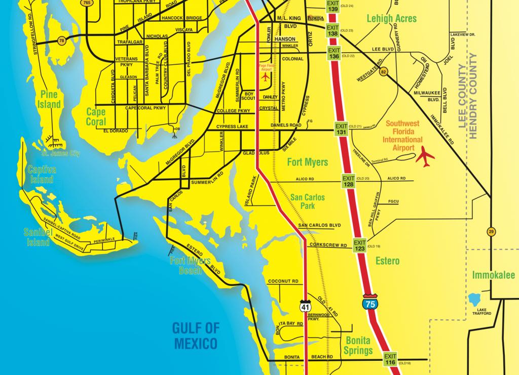 Florida Maps - Southwest Florida Travel - Where Is Sanibel Island In Florida Map