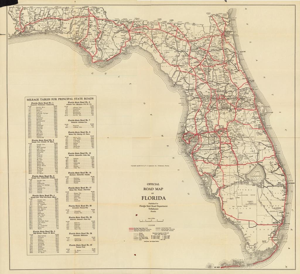 Florida Memory - Official Road Map Of Florida, 1930 - Lake Alfred Florida Map