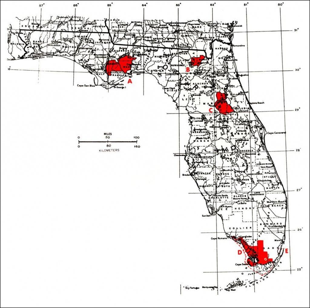 Florida National Parks   National Forests, Everglades National Park - National Forests In Florida Map