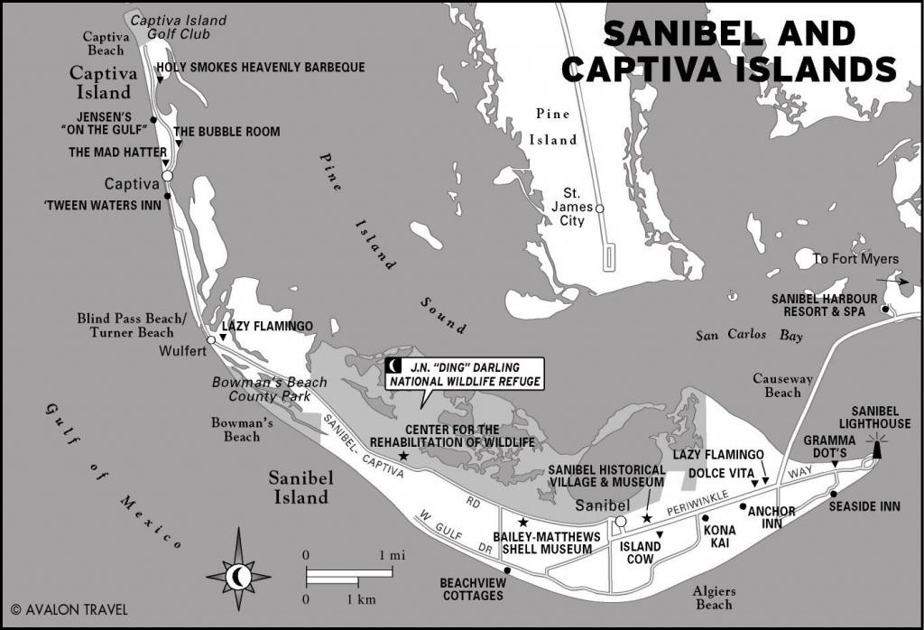 Florida   Oliver Style   Captiva Island, Sanibel Island, Island - Florida Gulf Islands Map