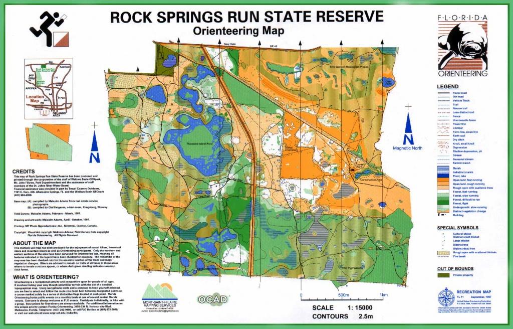 Florida Orienteering Maps - Central Florida Springs Map