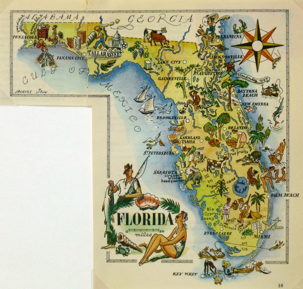 Florida - Original Art, Antique Maps & Prints - Florida Map Artwork