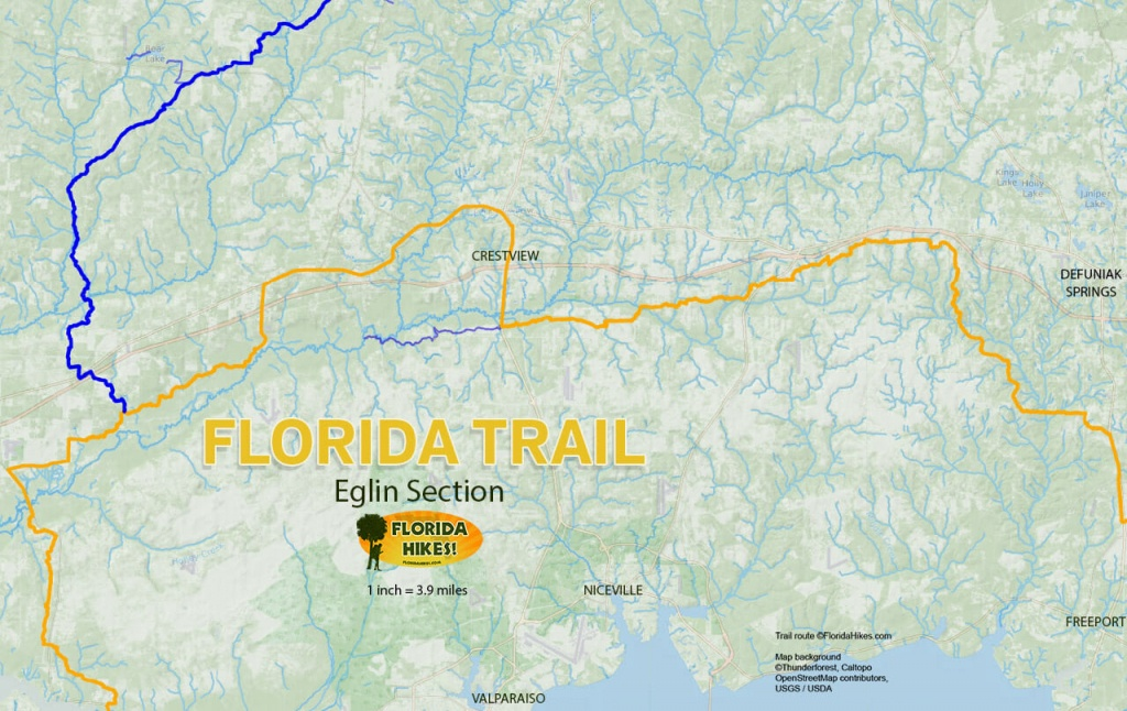 Florida Outdoor Recreation Maps | Florida Hikes! - Florida Hiking Trails Map