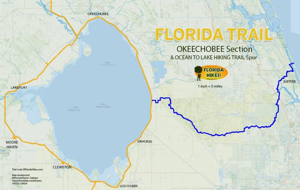 Florida Outdoor Recreation Maps | Florida Hikes! - Florida Trail Map