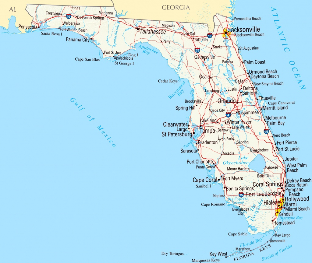 Florida Panhandle Map With Cities And Travel Information | Download - Google Maps Florida Panhandle