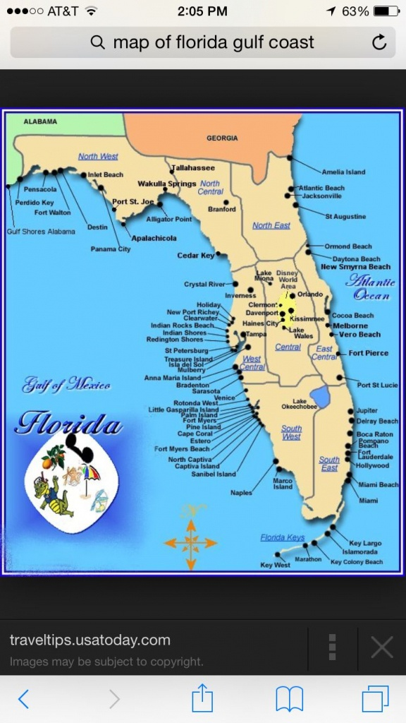 Florida | Places I Want To Visit | Map Of Florida Gulf, Florida Gulf - Florida Gulf Coast Beaches Map