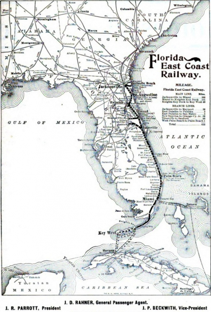 Florida Railroad Map And Travel Information   Download Free Florida - Florida Railroad Map