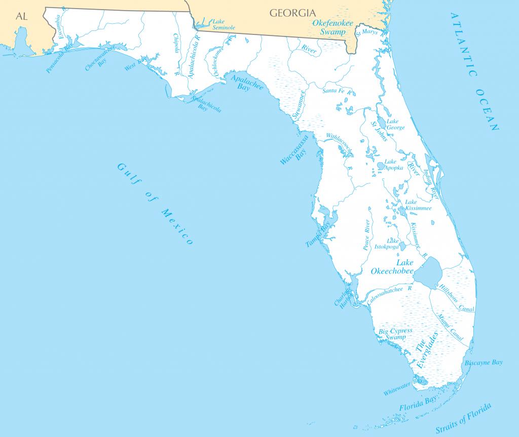 Florida Rivers And Lakes • Mapsof - Florida Lakes Map