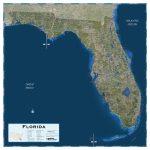 Florida Satellite Map   Maps   Satellite Map Of Florida