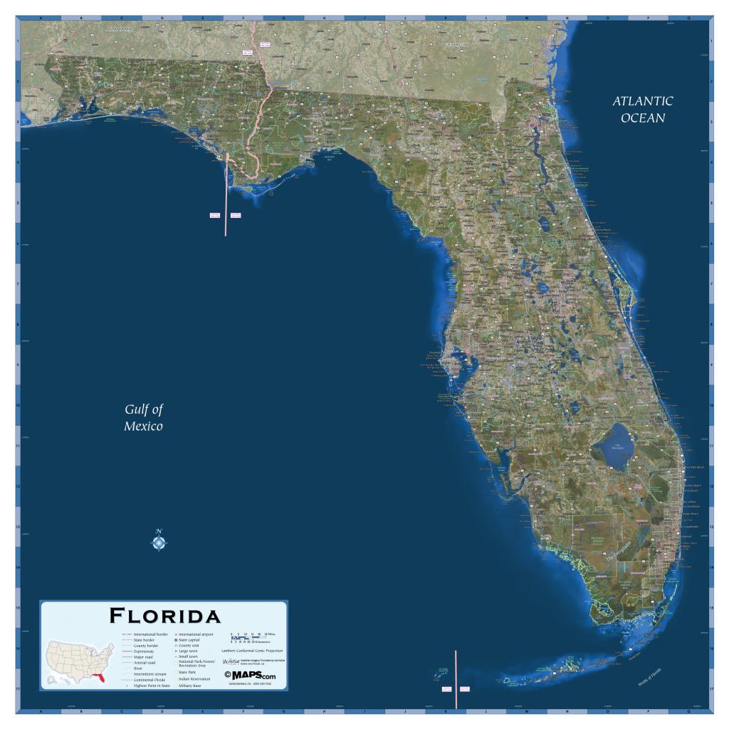 Florida Satellite Map - Maps - Satellite Map Of Florida