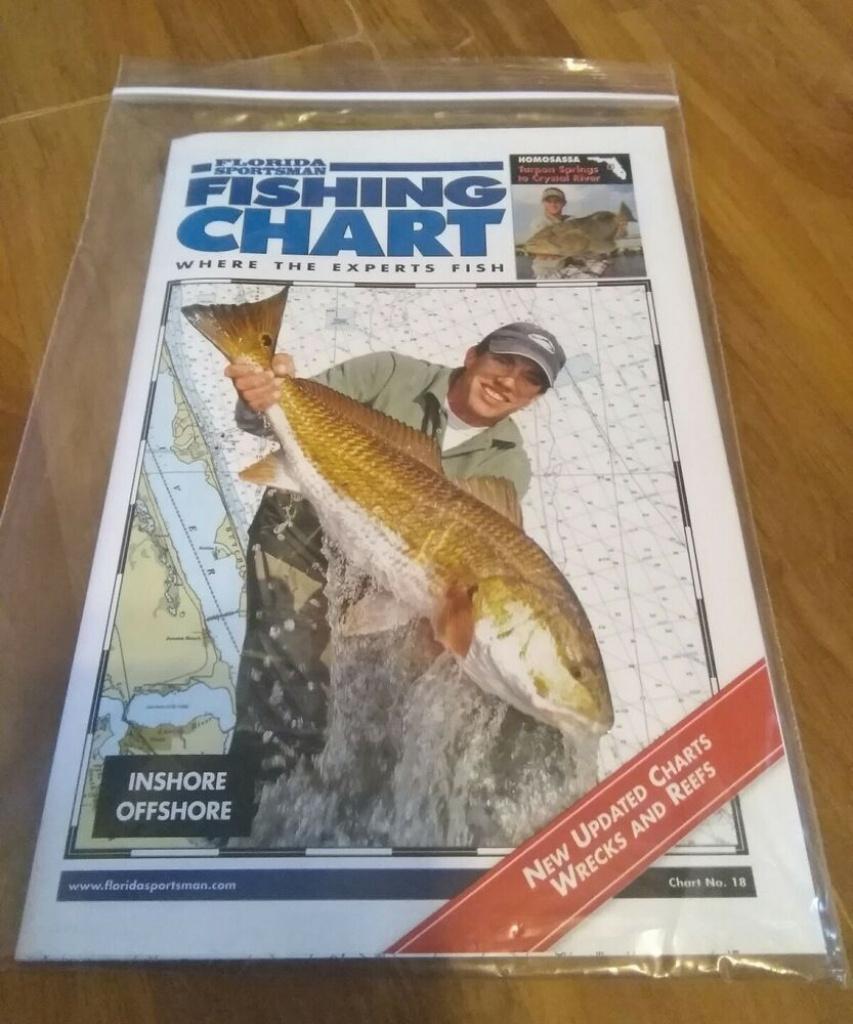 Florida Sportsman Fishing Chart #18 - Targon Springs To Crystal - Florida Sportsman Fishing Maps